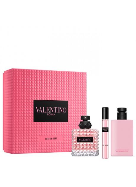 Cofre Valentino Donna BORN IN ROMA Woman edp 100 ml+Mini 15ml+Body 100ml