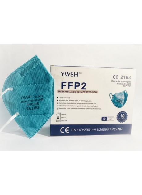 MASCARILLAS FFP2 AZUL 10 unidades