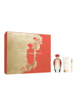 Cofre Adolfo Dominguez ÚNICA CORAL Woman edt 100 ml+Body Lotion 75ml+Mini edt 10ml