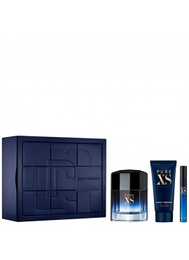 Cofre Paco Rabanne PURE XS Men edt 100 ml+Mini edt 10ml+Gel ducha 100ml