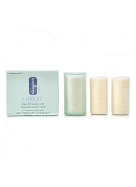 Clinique FACIAL SOAP WITH DISH Pastillas Jabón Facial 3x50g