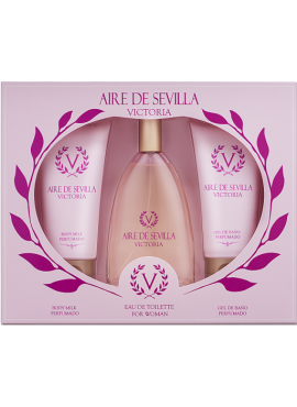 Cofre Aire de Sevilla VICTORIA Woman edt 150ml+Loción Corporal 150ml+Gel de Ducha 150ml