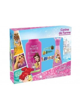 Cofre Corine de Farme PRINCESAS DISNEY edt 30ml+Gel Ducha 250ml+2 Clips+1 Pulsera Elástica+1 Marcapáginas Recortable
