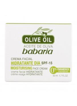 Babaria ACEITE DE OLIVA Crema Facial Hidratante Día spf15 50ml