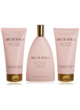 Cofre Aire de Sevilla ROSE Woman edt 150ml+Loción Corporal 150ml+Gel de Ducha 150ml