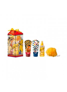 Cofre Disney EL REY LEON edt 100ml+Gel Ducha 100ml+Loción Corporal 100ml+Esponja