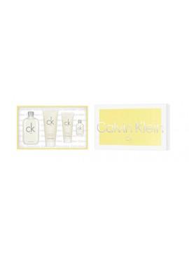 Cofre Calvin Klein CK ONE Unisex edt 200 ml+Body 200ml+Gel 100ml+Mini 15ml