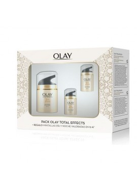 Pack OLAY TOTAL EFFECTS Crema Anti-Edad Hidratante Día Spf15 50ml+Total Effectos Día 15ml+Total Effects Noche 15ml