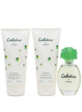 Cofre Grès CABOTINE Woman edt 100ml+Body Lotion 200ml+Gel 200ml