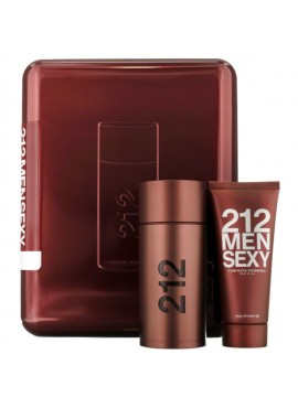 Cofre Carolina Herrera 212 SEXY Men edt 100ml+Gel Ducha 100ml